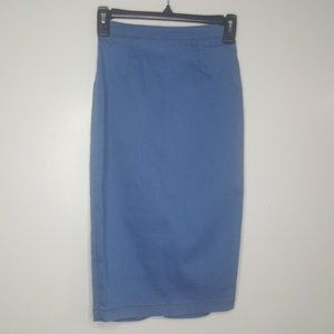 S Miss California Skirt Denim Split Midi Slim D